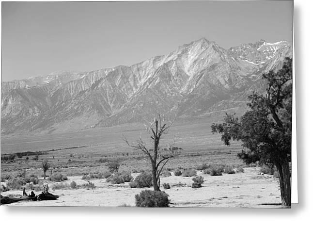 Manzanar-sierra Nevada Mountains II Greeting Card by Harold E McCray