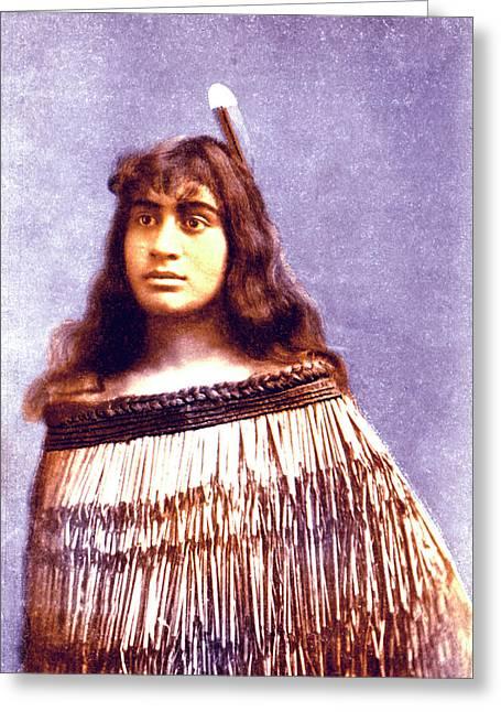 Maori Princess Greeting Card