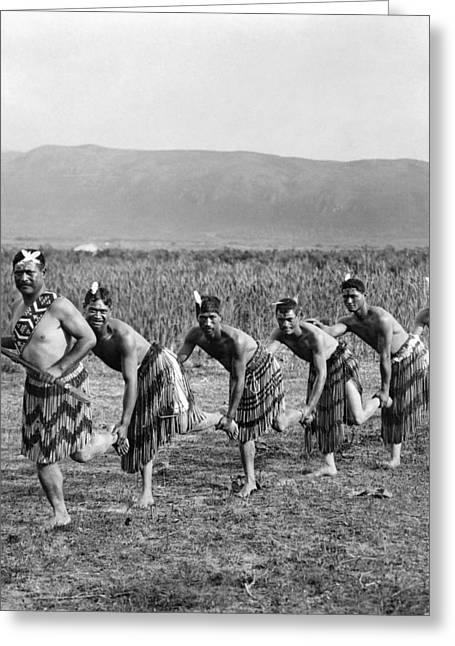 Maori War Dance Greeting Card