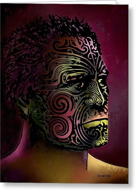 Maori Warrior - 5 Greeting Card