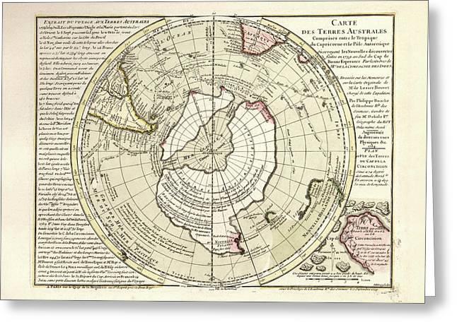 Map Of Antarctica Greeting Card