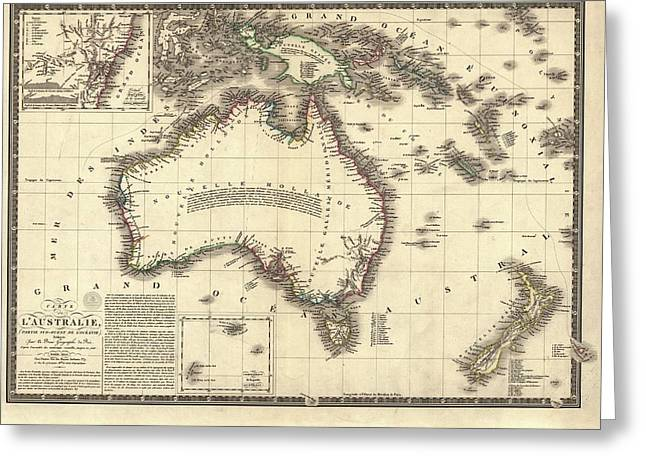 Map Of Australia Greeting Card