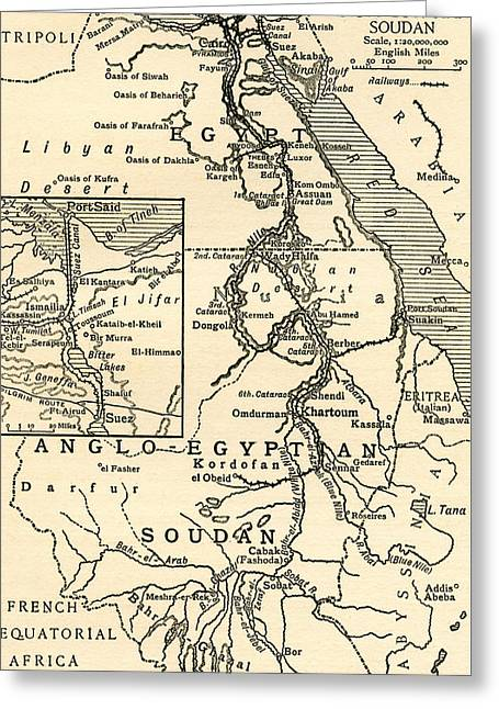 Map Of Egypt Greeting Card