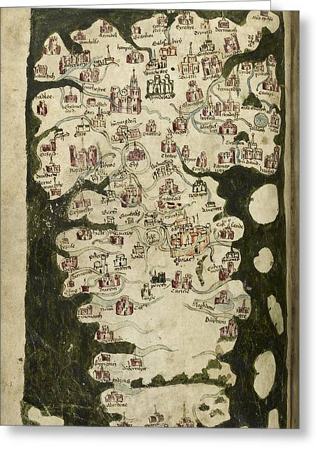 Map Of England And Wales Greeting Card by British Library