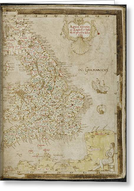 Map Of England Greeting Card by British Library