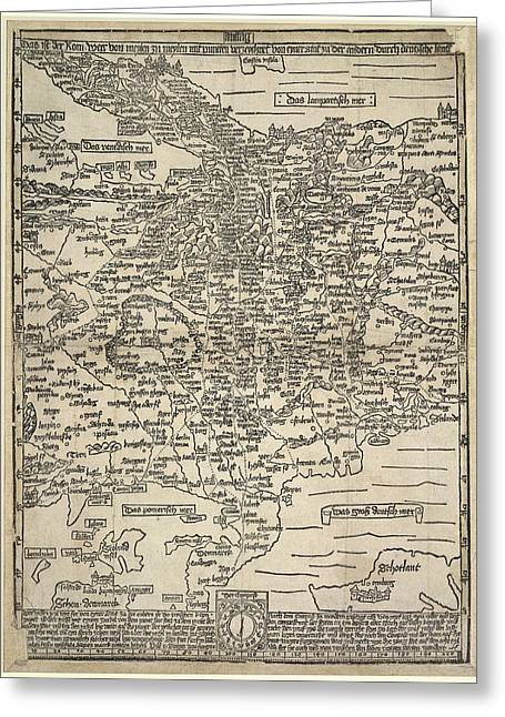 Map Of Germany Greeting Card