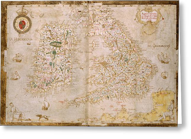 Map Of Great Britain And Ireland Greeting Card by British Library