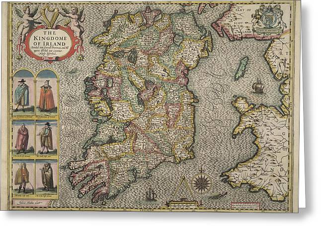 Map Of Ireland Greeting Card