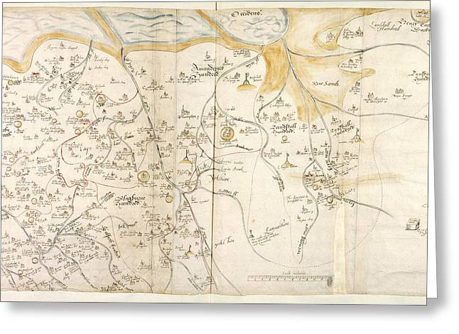 Map Of Lancashire Greeting Card by British Library