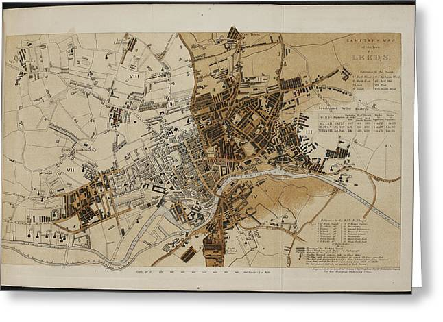 Map Of Leeds Greeting Card by British Library