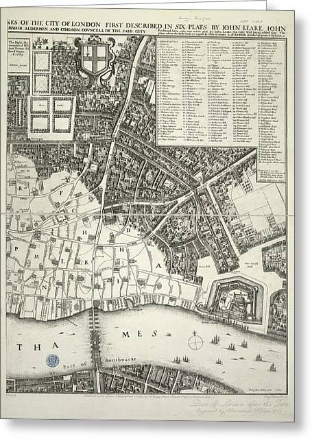 Map Of London Greeting Card by British Library