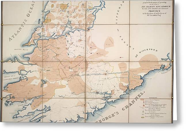 Map Of Munster Greeting Card