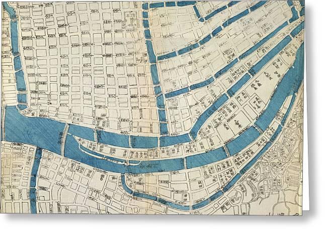 Map Of Osaka Greeting Card by British Library