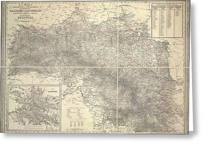 Map Of Poland Greeting Card by British Library