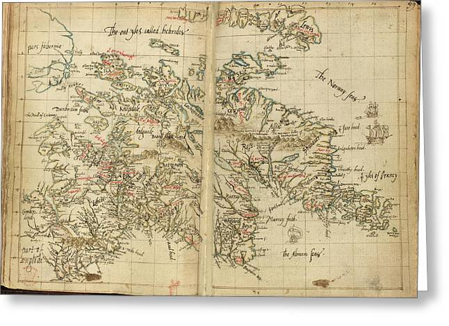 Map Of Scotland Greeting Card by British Library