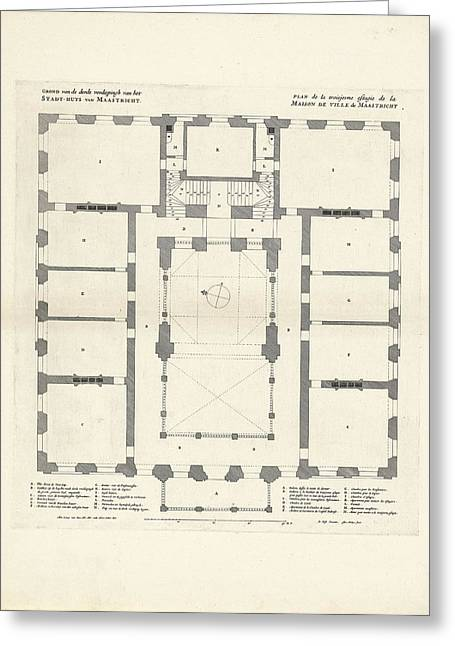 Map Of The Third Floor Of The City Hall Of Maastricht Greeting Card by Quint Lox