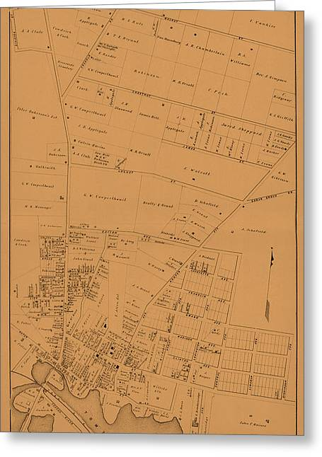Map Of Toms River 1878 Greeting Card by Andrew Fare
