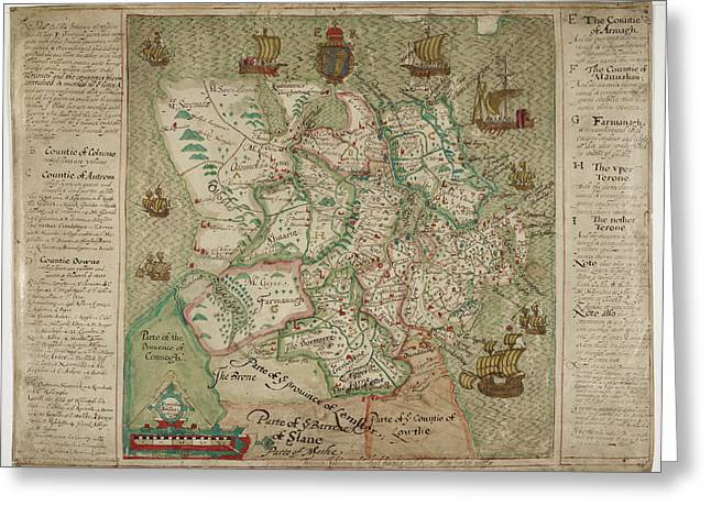 Map Of Ulster Greeting Card by British Library