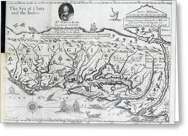 Map Of Virginia Greeting Card by British Library