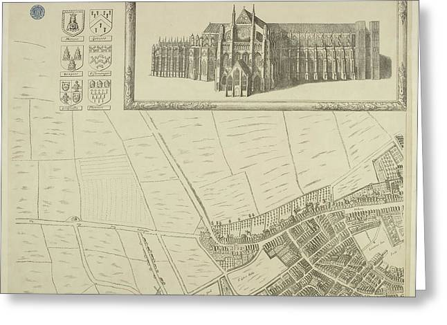 Map Of Westminster In The City Of London Greeting Card
