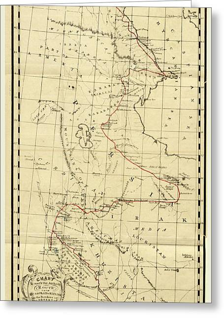 Map, Personal Narative Of Travels In Babylonia Greeting Card by Litz Collection