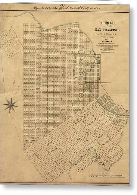Map San Francisco, 1849 Greeting Card by Granger