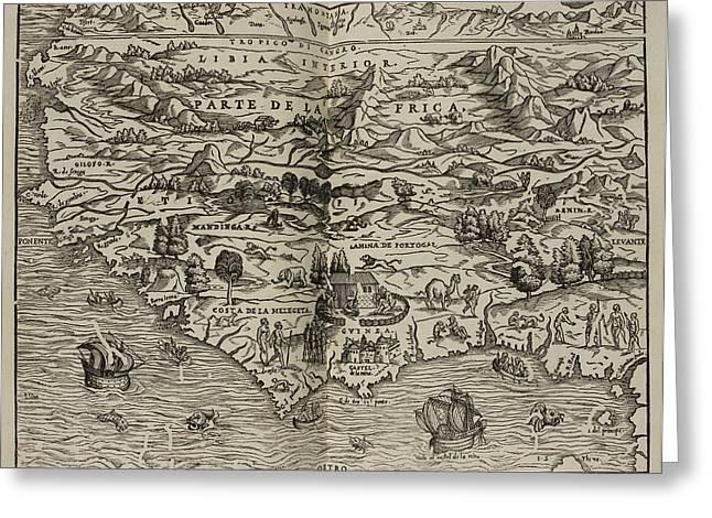 Mapa Del Parte De La Frica Greeting Card by British Library
