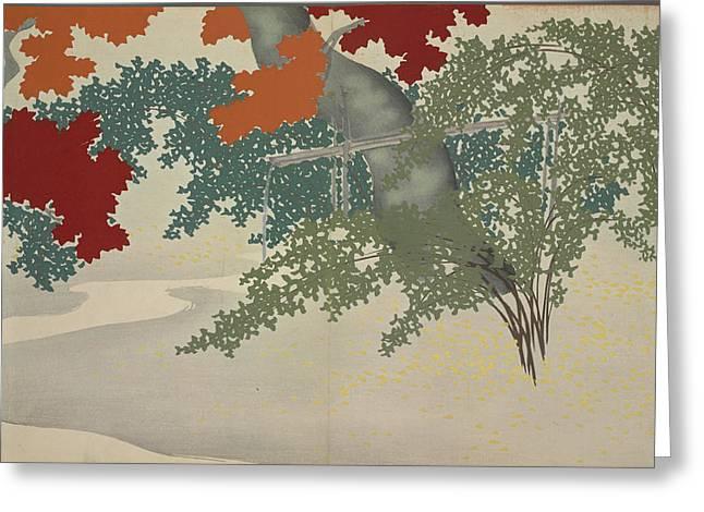 Maple, Kamisaka, Sekka, Artist, Date Issued 1909 Greeting Card by Artokoloro