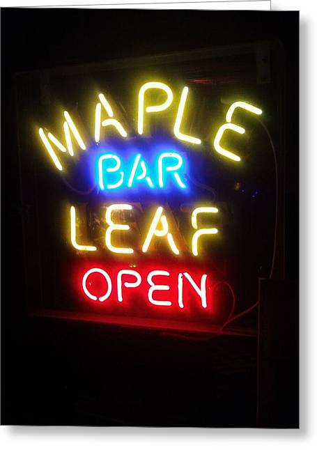 Maple Leaf Bar Greeting Card