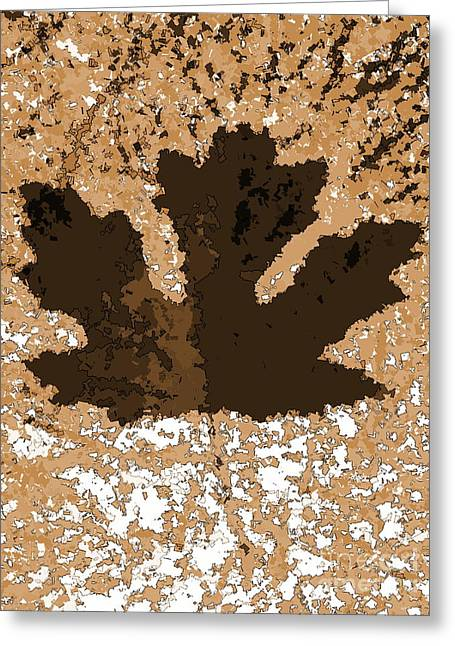 Maple Leaf Brown  Hues Greeting Card by R Muirhead Art