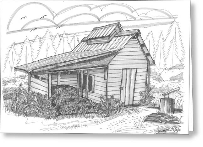 Maple Sugar House Greeting Card