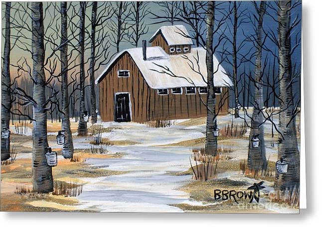 Maple Syrup Shack Greeting Card