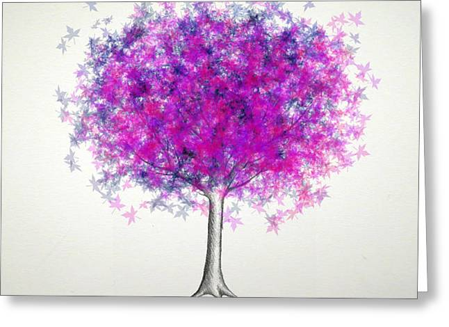 Maple Tree 5 Greeting Card by Syed Bilawal Kamal