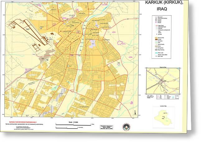 Maps Of Al Basrah And Kirkuk Iraq 2003 Greeting Card by MotionAge Designs