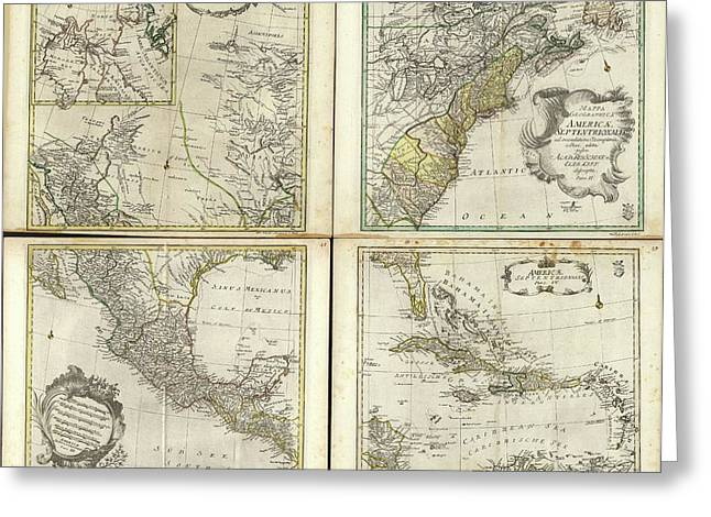 Maps Of North America Greeting Card by Library Of Congress, Geography And Map Division