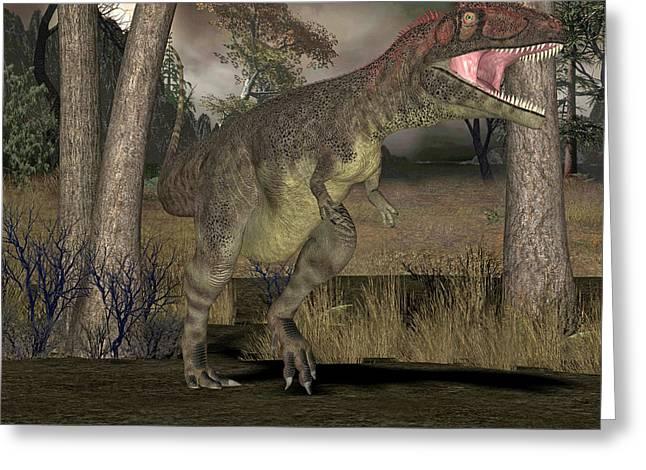 Mapusaurus Dinosaur Greeting Card