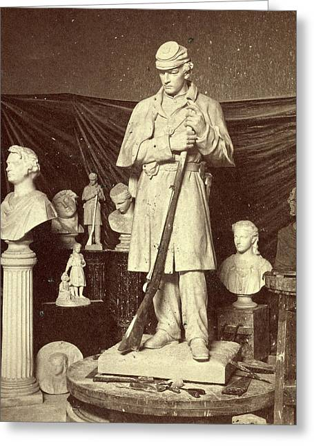 Maquette Of Union Soldier For Roxbury Soldiers Monument Greeting Card by Litz Collection