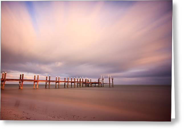 Marathon Key Long Exposure Greeting Card by Adam Romanowicz