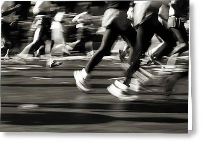 Marathon, Nyc, New York City, New York Greeting Card by Panoramic Images