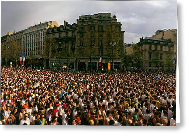 Marathon Runners, Paris, France Greeting Card