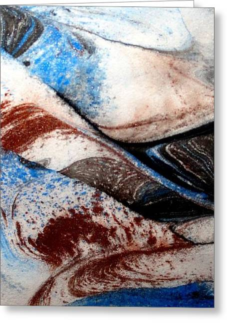 Greeting Card featuring the painting Marble 4 by Mike Breau