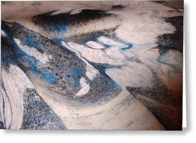 Greeting Card featuring the painting Marble 7 by Mike Breau