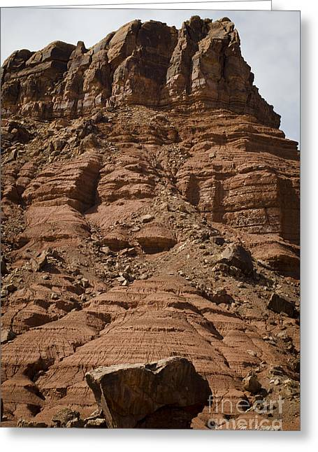 Marble Canyon Vi Greeting Card by Dave Gordon