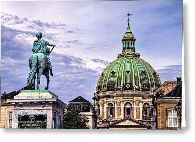 Marble Church - Copenhagen Denmark Greeting Card by Jon Berghoff