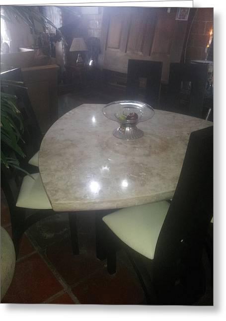 Marble Diamond Table Greeting Card