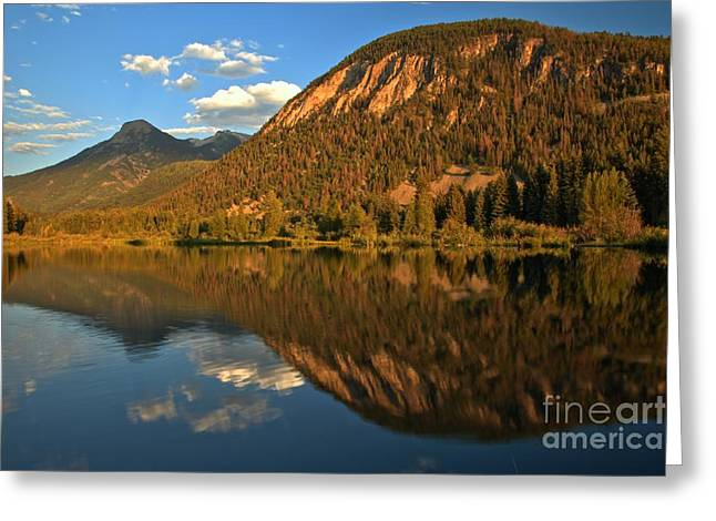 Marble Fishing Lake Reflections Greeting Card