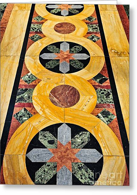 Marble Floor In Orthodox Church Greeting Card by Elena Elisseeva