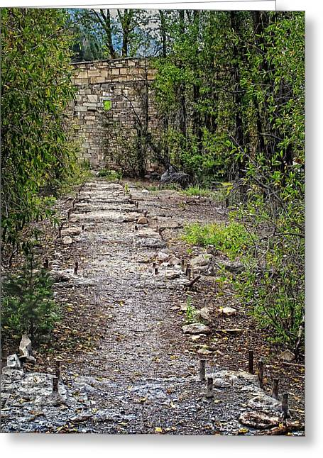 Marble Mill Remains Greeting Card by Ken Smith
