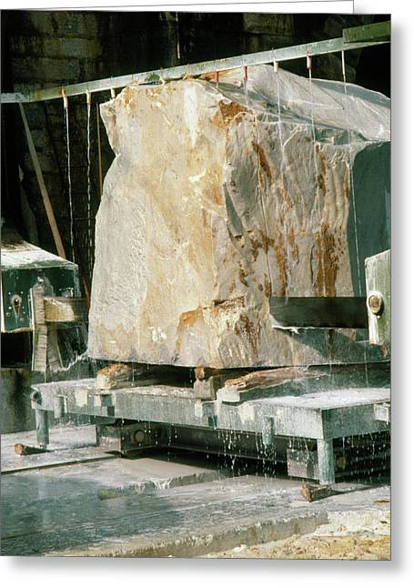 Marble Quarry At Fantiscritti Caves Greeting Card by Sheila Terry/science Photo Library.