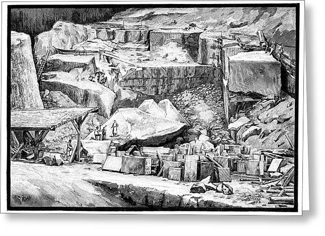 Marble Quarry Greeting Card by Science Photo Library